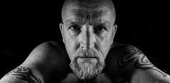The silence is deafening ! (TrevKerr) Tags: portrait man male beard monochrome blackandwhite blackwhite bw tattoo lowkey