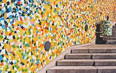 Rivertime (pc1986) Tags: pc1986 düsseldorf rivertime hermannjosefkuhna bruchkeramik farben mülltonne treppen analog film kodak canonae1program canon canonfd50mm118sc 50mm niftyfifty kunst