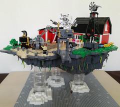 Happy Carpenter Cottage ver 1.1 (glaz_pimpur) Tags: laputa happycarpentercottage lego moc afol zbudujmyto steampunk flying isle flyingisle saltkrakan seacrow