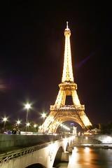 Eiffel Tower, night shot 1 (Marianna Gabrielyan) Tags: paris eiffel tower france night shot river water reflections seine canoneosdigitalrebelxti canonefs1855mmf3556ii