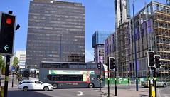 National Express West Midlands ADL Enviro 400 MMC, 6852 (paulburr73) Tags: 6852 moorstreetqueensway birmingham buses nxwm nationalexpress westmidlands enviro400 adl alexanderdennis 6881 summer july 2018 street cityscape e400 mmc majormodelchange bus transport
