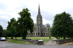 Salisbury Cathedral [1] (Ian R. Simpson) Tags: salisburycathedral cathedral cathedralchurchoftheblessedvirginmary cofe churchofengland anglican church lawn grass tower spire building wiltshire england salisbury cathedralclose