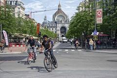 Antwerpen-Centraal railway station, Antwerp Central, Belgium (Ingunn Eriksen) Tags: antwerpencentraalrailwaystation antwerpcentral belgium antwerp antwerpen biker