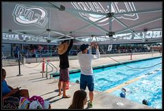 Getting timing stations set up (K-Szok-Photography) Tags: southerncaliforniaswimming competition competitiveswimming swimming swimmer swimmers swim swimmeet watersports water pool circlecityaquatics ccaq socal california canon canondslr kenszok kszokphotography coach coaches canon5d 5d