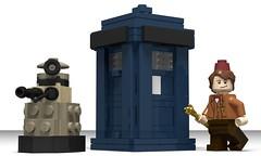 lego Tardis (minifigure scale) moc (KaijuWorld) Tags: lego moc custom tardis doctorwho doctor dalek bbc policebox ldd