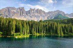 Karersee (Torsten Frank) Tags: 3peaksbikerace alpen altoadige bikepacking dolomiten gebirge italien karersee latemar radfahren radrennen radsport see südtirol threepeaksbikerace wasser lagodicarezza lake water