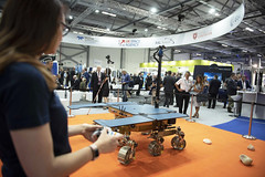 Space Zone and UKSA, UK space industry, ESA exhibition zone FIA 2018 (europeanspaceagency) Tags: fia18 fia2018 farnborough farnboroughairshow farnboroughinternationalairshow esa europeanspaceagency space universe cosmos spacescience science spacetechnology tech technology uk exomars 2020 exomars2020 exomarsrover
