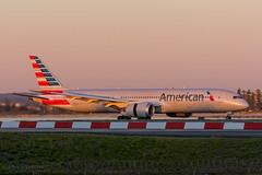 American Sunrise (Tom Marschall) Tags: american airlines boeing dreamliner 787 7879 syd sydney los angeles lax la usa yssy jet jetliner aviation plane aeroplane