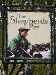The Sherperds Rest (NottsExMiner) Tags: pub sign brewery local inn hotel traditionalandnotsotraditionalukpubsigns ukpubsigns pubsigns oldnewpubsandsigns panasonicdmcfz150