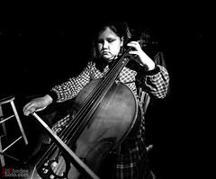 practice- (BillRhodesPhoto) Tags: billrhodes asheville nc blackandwhite monochrome cello music jamie daughter