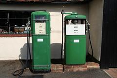 Old garage at Layer-de-la-Haye, Essex (kitmasterbloke) Tags: petrol pump derv layer essex garage forecourt streetfurniture outdoor uk westmersea merseaisland