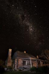 Log Hut (Tindo2 - Tim Rudman) Tags: tasmania midlands landscape sky night hut