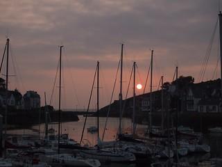Sonnenuntergang im Hafen von Dahouet