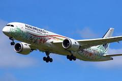 "Aeromexico Boeing 787-9 ""Quetzalcoatl"" c/s XA-ADL (Manuel Negrerie) Tags: aeromexico boeing 7879 quetzalcoatl cs xaadl dreamliner mexico spotting jetliner airliner cdg aviation plane technology scheme livery design genx am skies canon"