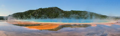 Grand Prismatic Spring Panorama (scrappydoggy) Tags: yellowstone jellystone prismatic grandprismaticspring spring hotspring wyoming landscape nationalpark canon sony a7riii a7r3 2470mm 2470 50mm metabones