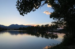 Summer's First Evening (Patricia Henschen) Tags: salida colorado frantzlake sunset lake clouds reflection coloradoparkswildlife swa statewildlifearea solstice summer mountain mountains sawatch range upperarkansasvalley
