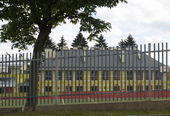 Stasiówka School with tree 1 IMG_2303 b (david.neville2776) Tags: stasiówka school podkarpackie fence tree