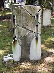 The Six Million Dollar Stone (Part 2) (Boneil Photography) Tags: boneilphotography brendanoneil canon powershot g16 oldcornercemetery amesbury ma broken gravestone spotmeter