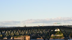 Ross Island Bridge (Curtis Gregory Perry) Tags: portland oregon time lapse video nikon d810 movie film sunset bridge ross island highway 26