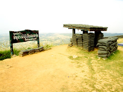 old bunker in Khao Kho Viewpoint , Phetchabun , Thailand (www.icon0.com) Tags: wall nobody mountain military landscape war old outdoors soldier thailand sandbag protection army weapon hill bunker battlefield base bag defense black battle world peace shelter asia building cover combat