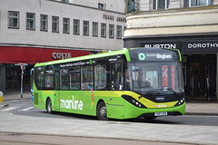 Trent Barton 117 YX67UXW (Will Swain) Tags: nottingham 6th april 2018 nottinghamshire city centre bus buses transport travel uk britain vehicle vehicles county country england english wellglade group williamsdigitalcamerapics100 trent barton 117 yx67uxw