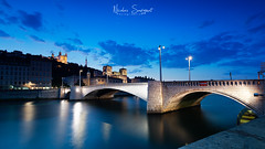 Lyon by the Night (Njones03) Tags: 2018 bluehour clouds lyon nicolassavignat nisi nisifilters nisifrance river sky sunset auvergnerhônealpes france fr