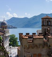 Lugano, Switzerland (Rourkeor) Tags: lugano switzerland ch lake mountains church ancient water sony sonyrx1r rx1r carlzeiss zeiss fullframe 35mm
