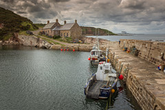Cove Harbour, Scottish Borders, Scotland. (Gary Alexander's Landscape Photography) Tags: harbour cove scotland scottish borders landscape land landscapes sea seaside seascape boat harbor hyperfocal canon 6d 2018 house cloud colour color clouds colourful cliff coast coastal composition exposure edit explore east europe ef f4 f13 flickrsbest green grass iso inspiredbylove impressedbeauty iso100 l lens location light leading lines line