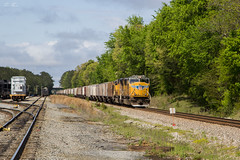 CSX K819 at Wyvern Yard (travisnewman100) Tags: csx train railroad freight locomotive union pacific up etowah subdivision atlanta division wyvern yard emd sd70m rr k819 unit empty phosphate