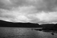 Brooding Loch Muick (steve_whitmarsh) Tags: aberdeenshire scotland scottishhighlands highlands mountain hills landscape cloud water loch lochmuick lake bw blackandwhite monochrome topic abigfave