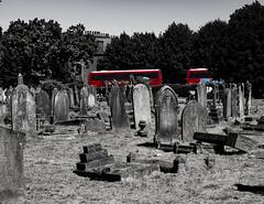 Camberwell Old Cemetery (London Less Travelled) Tags: uk unitedkingdom england britain london southwark southlondon street urban city grave graves gravestone cemetery old camberwell bus doubledecker
