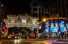 Friendship Archway at Night in Chinatown Washington DC (mbell1975) Tags: washington districtofcolumbia unitedstates us friendship archway night chinatown dc washingtondc district chinese gate portal tor evening lights