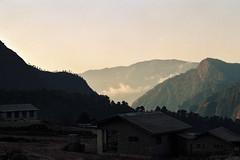 Dawn (OzGFK) Tags: asia nepal everestregion mountains dawn morning sunrise film analog fuji100 35mm pentaxp30t clouds highlands winter
