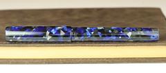 Black and Blue Fountain Pen - Jowo #8 Rose Gold Nib (BenjaminCookDesigns) Tags: fountainpen custom bespoke engraved personalised classic vintage artdeco style gift birthday christmas fpgeeks fpn giftforhim giftforher füllfederhalter