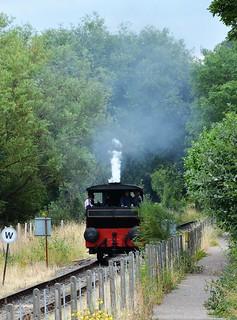 Steam locomotive at Elsecar