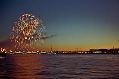 Firework on the Neva River (ollazarev) Tags: minolta7s kodakfilm firework kodak ishootfilm