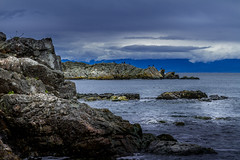 Neck Point Blue Hour (kellypettit) Tags: canada nanaimo cloudy gray neckpoint ocean sea vancovuerisland water westcoast winter birds bluehour contrast dark moody deep mysterious
