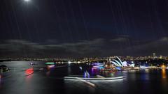 Vivid Sydney 2018 -  Light, Music & Ideas Festival (8) (geemuses) Tags: sydney vividsydney2018 light music ideasfestival sydneyoperahouse colour timelapsephotography sydneyharbourbridge sydneyharbour water extendedexposure projections nightphotography sky contrast