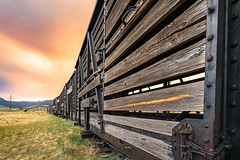 Into the Fire (Wits End Photography) Tags: northclearcreekfalls abandoned smoke cloud train colorado creede weathered objects decay bleached decayed discarded discolored faded faint forgotten forsaken machine mechanical mechanism neglected old pale rejected texture transportation vehicle worn