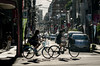 riding their bicycles, Tokyo (beeldmark) Tags: fiets zonnig schaduwen straatfoto stad tokyo japan tokio 東京 bicycle 自転車 smcpentaxda70mmf24limited smcpda70mmf24 beeldmark