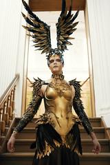 Phoenix #2 (mobile_gwenster) Tags: nikon d810 museum teylersmuseum phoenix gold armor costume magic warrior wings dress fantasy fairytale 35mm sigma3514 sigma art