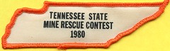 1980 Tennessee Mine Rescue Patch (Coalminer5) Tags: coalmining coalminer coalmemorabilia coalcollectibles mining miningmemorabilia miningcollectible miningartifacts miner minerescue tennessee minerescuecompetition minerescuecontest smokeeaters smokeeater draegerman dragerman drager draeger patch sewonpatch