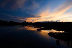 Summer Sky (kat-taka) Tags: ã¬ãã blue magic water orange sky 1635 landscape lake mountain sunset