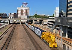 "Eastbound Transfer in Kansas City, MO (""Righteous"" Grant G.) Tags: kct kansas city terminal railway railroad locomotive train trains east eastbound transfer freight emd missouri union station manned helper watco"