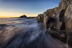 Sunrise at Bamburgh Castle, Northumberland (MelvinNicholsonPhotography) Tags: bamburgh bamburghcastle northumberland castle sunrise ocean waves water shortexposure canon5dmk3