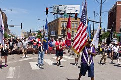 Pride Parade 2018 -{Filename»}-85 (Scott McMorrow Photography) Tags: 49thprideparade americanflag boyztown canon24mm70mm canon60d celebration chicago children costume crowds float ldbtq leadwihtlove love loveislove lovewins marching marchingband northside outinchicago parade prideday proud spectators sunnyday union unitehere woeker prideflag chicagoist eos party trans