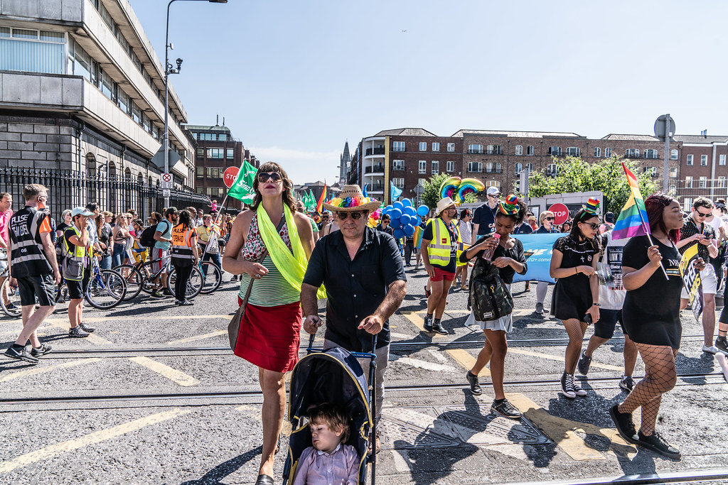 ABOUT SIXTY THOUSAND TOOK PART IN THE DUBLIN LGBTI+ PARADE TODAY[ SATURDAY 30 JUNE 2018] X-100080