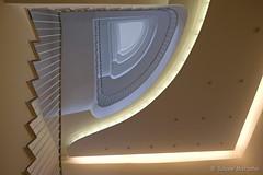 Stairway of Light (Sockenhummel) Tags: berlin treppe treppenhaus treppen beleuchtung licht stairway staircase stairwell escaliers architektur architecture gebäude steps stufen geländer treppengeländer fuji xt10