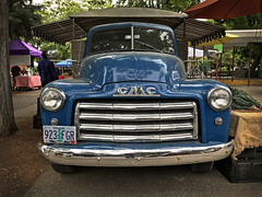 GMC (skipmoore) Tags: eugene gmc truck grille farmersmarket