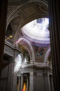 light floods into the Panthéon - fine art, complex angles in colour, Latin Quarter, Paris, France